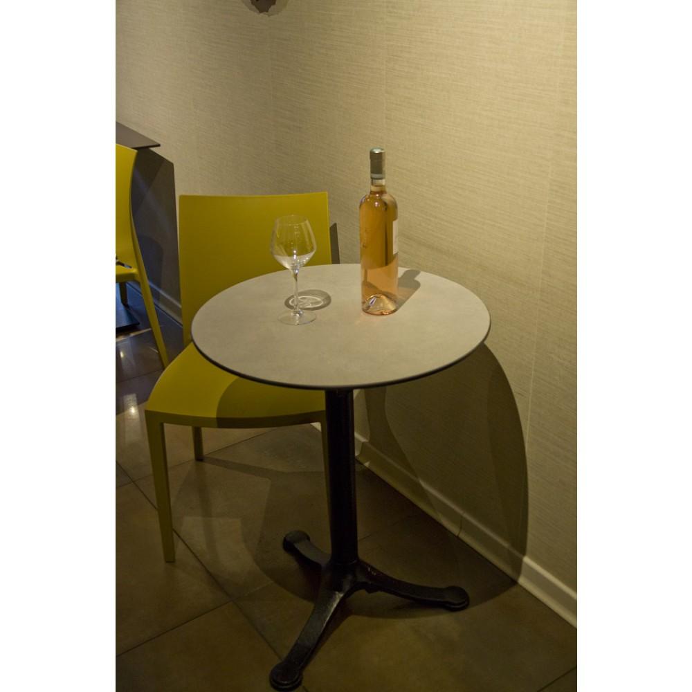 plateau de table de bar restaurant compactop en stratifi compact hpl starifi massif ciment. Black Bedroom Furniture Sets. Home Design Ideas