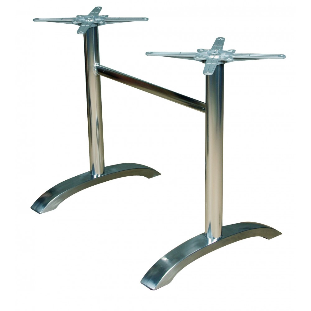 Pieds de table inox for Pieds de table 90 cm